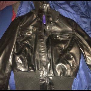 Miley Cyrus leather jacket